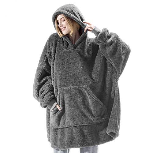 Manta con capucha, de gran tamaño, suave, cálida, cómoda, gigante, talla única, para todos los adultos, hombres, mujeres y adolescentes.