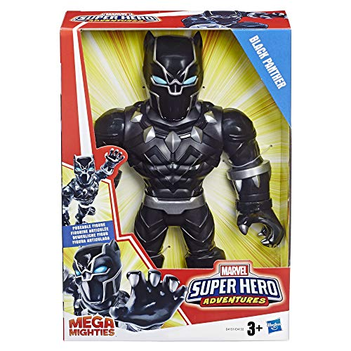 Marvel E4132 25 cm große Playskool Heroes Super Hero Adventures Mega Mighties Black Panther Figur zum Sammeln