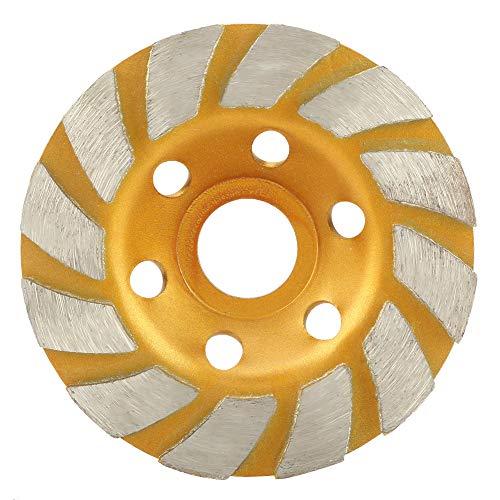 Disco abrasivo de segmento de diamante redondo de 100 mm, amoladora, herramienta de corte, taza, muela, mármol, piedra, roca, cemento para amoladora, pulido y limpieza de piedra