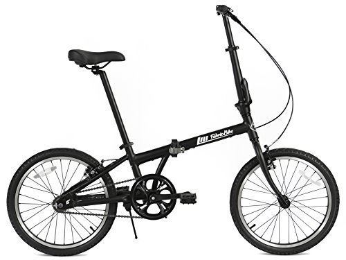 FabricBike Folding Bicicleta Plegable Cuadro Aluminio 3 Colores (Fully Matte Black)