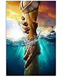 Don't Be Afraid Just Have Faith Poster Reaching Out Jesus Hand Canvas Gift Idea Canvas Frame Poster (20x30)