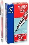 Pilot G-Tec-C Gel de bola bolígrafos Ultra punta fina, tinta roja, 2-dozen (35493)