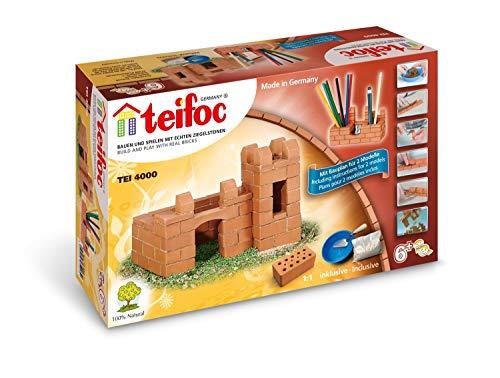 Teifoc TEI 4000 Steinbaukästen 4000-Burg, Multi Color, Schloss/Schreibtisch