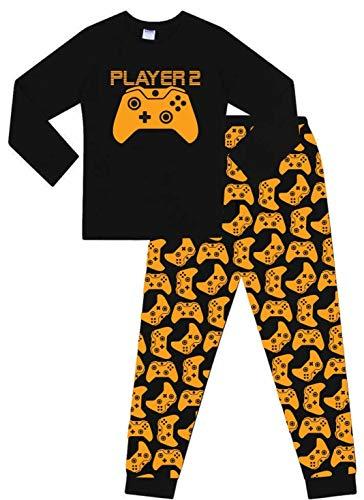 Pijama largo con motivos de videojuegos Dorado Jugador 2 11-12 Años