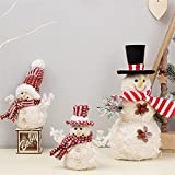 JJZXD 3 unids Navidad Muñeco de Nieve Muñeca Decoraciones de Navidad Adornos Decoraciones de Navidad for el hogar (Color : A, Size : As The Picture Shows)