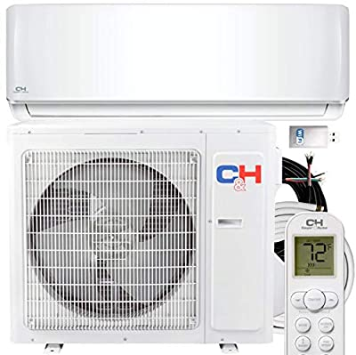 12000 BTU Heating and Cooling Ductless Mini Split Air Conditioner 110V Heat Pump Energy Star with Installation Kit