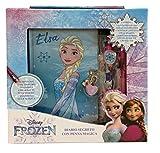 Disney Frozen Diario Segreto con Penna Magica Adesivi e Penna con Clip Anna Elsa