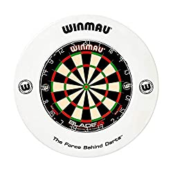 Winmau Printed white dartboard surround Suitable for all Winmau bristle dartboards Perfect for home or club use 43.6cm Inner Diameter, 67.5cm Outer Diameter Dartboard not included