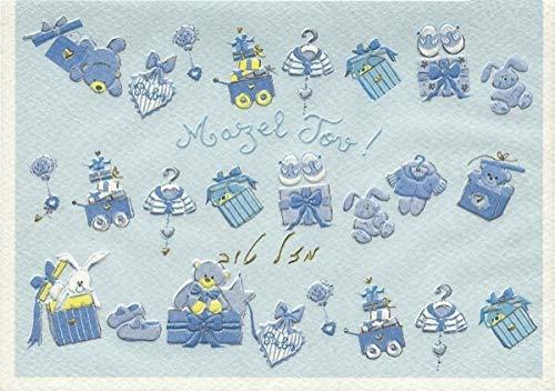 Glückwunschkarte Geburt Junge hebräisch Mazel Tov!