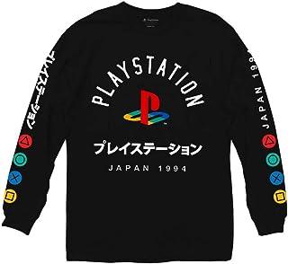 Camiseta de manga larga con logotipo de Ripple Junction Playstation con botón de color japonés