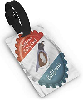 Hot sale 1pc Quail,California Valley Graphic One Size Luggage Tags