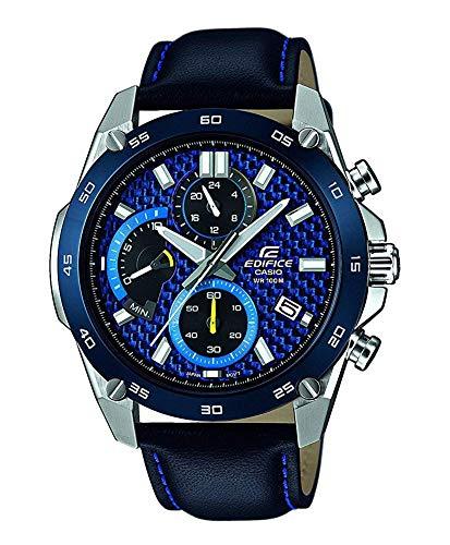 Casio Reloj Analogico para Hombre de Cuarzo con Correa en Acero Inoxidable EFR-557BL-2AVUEF