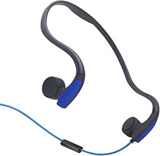 GZCRDZ Bone Conduction Headphones with Microphone Stereo Open-Ear Sport Headphone with Noise Reduction Microphone (Blue)