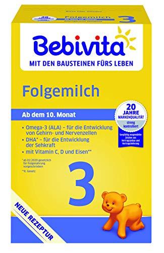 Bebivita Milchnahrung 3 Folgemilch, 4er Pack (4 x 500 g)