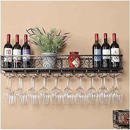 Bedspread Estante para vinos para Montar en la Pared Marco Decorativo Estante antioxidante Estante para vinos Chapado en Hierro para Bares, restaurantes, cocinas (Negro) (Tamaño: 30 * 25cm)