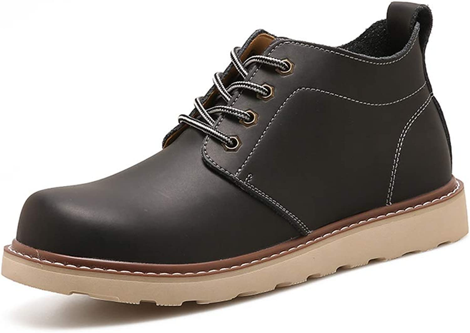 ZHRUI Mens Classic Ankle Boots Soft Sole Non Slip Waterproof Comfort Chukka Boots (color   Black, Size   UK 7.5)
