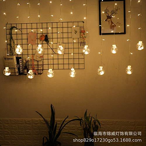CFLFDC Guirlandes lumineuses Led Couleur Lumière Flash Lumière Lampe À Cordes Souhait Boule Plug-in Télécommande (boule de souhait) chaud blanc règles européennes ronde insert