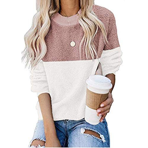 Check Out This FengGa Womens Fashion Casual Long Sleeve Contrast Color Block Lightweight Pullover Sw...