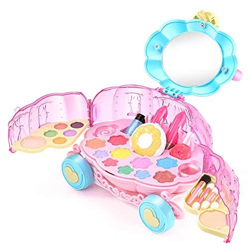 Make-up Kit Für Mädchen Kürbis Auto Spielzeug Kosmetik Spielzeug Lippenstift Waschbar Make-up Koffer Set Make-up Set Für Kinder Prinzessin