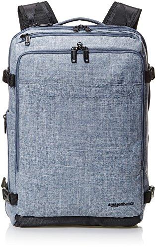 AmazonBasics Slim Carry On Laptop Travel Weekender Backpack - Denim
