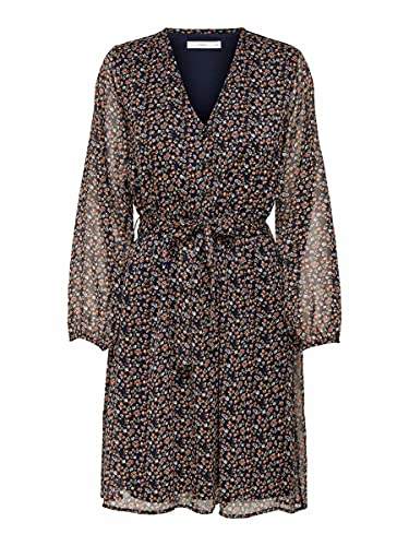 ONLY Damen ONLCERA 3/4 Short Dress WVN NOOS Kleid, Night Sky, XL