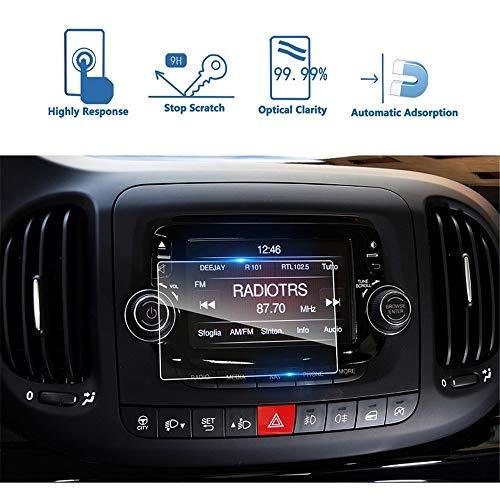 LUOERPI 2PCs Car GPS Navigation Touch Display Screen 9H Vidrio Templado Protector de Pantalla película Protectora de Pantalla, para Fiat 500L Uconnect 2014-2018