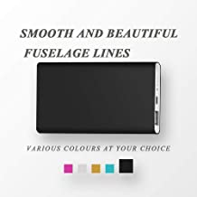 YHhao 6000mAh Portable Power Bank, Cellphone Charger External Battery Pack, Fast Charging Powerbank, Portable Charging Station (Black)