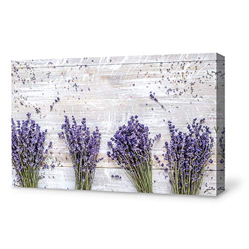 SIGNFORD Canvas Wall Art for Living Room,Bedroom Home Artwork Paintings Romantic Lavender Ready to Hang - 12x18 inches