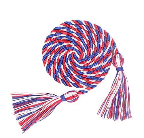 Cordas de Honra de Formatura, 177,8 cm de comprimento, Royal Blue/White/Red, 1