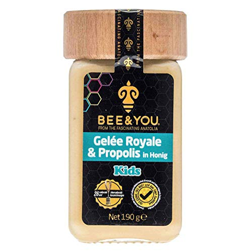 Bee&You ® | Gelée Royal & Propolis in Honig für Kinder | (Roher Honig - non-GMO - Glutenfrei - Glucosefrei - Lactosefrei - Natürliche & kontrollierte Zutaten)