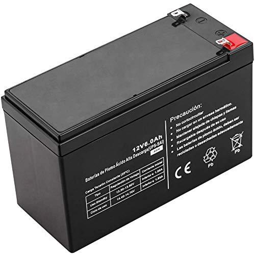 BeMatik - Batería sellada de Plomo-ácido de 12V 6Ah...