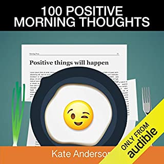 100 Positive Morning Thoughts audiobook cover art