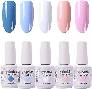 Arte Clavo 15ml Varnish Soak Off UV Led Nail Gel Polish Nail Art Salon Set 510 of 5 Colors