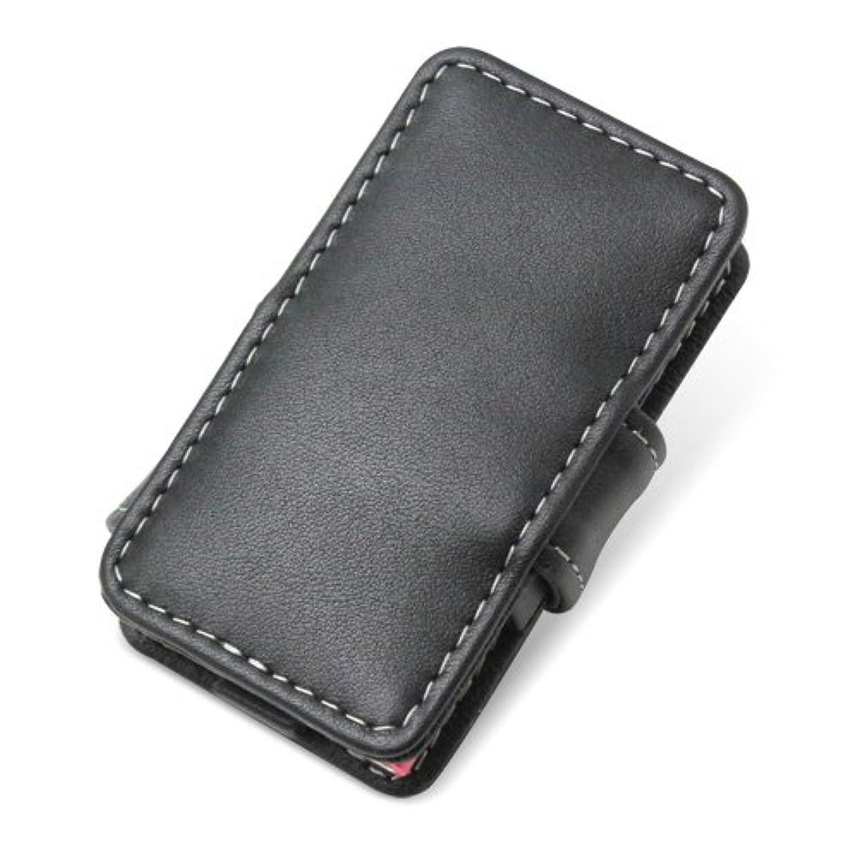 問い合わせるラビリンスせがむPDAIR レザーケース for iPod nano(7th gen.) 横開きタイプ(ブラック) PALCIPDN7B/BL