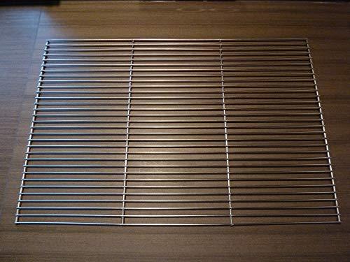 chm Grillrost Edelstahl Grillgitter eckig Grillaufsatz in 2 Größen 60x40cm 58x30cm (Edelstahl, 60x40cm)