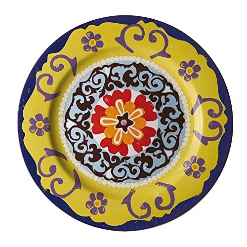 Nador Plateau Rond cm 30, Porcelaine, Multicolore, 0.1 x 0.1 x 0.1 cm