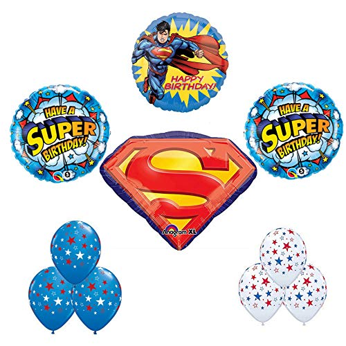 Superman Party Supplies Happy Birthday Balloon Bouquet Decoration