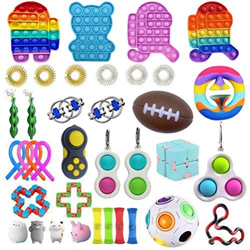 TAIPPAN Fidget Toys Pack, 28 Pack Juguetes Sensoriales, Kit de Juguetes Antiestrés Juguetes Sensoriales antiestres, Set de Juguetes Sensoriales para Niños y Adultos