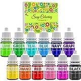 Seifenfarbe Set 12 Farben - Flüssig Seifenfarben Färbende für die DIY Seifenherstellung -...