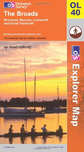 OS Explorer map OL40 : The Broads