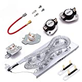 3387747 Dryer Heating Element & 279816 Thermostat Kit & 279973 3392519 Thermal cut-off Fuse Replacement Compatible with-Whirlpool, Kenmore, Samsung, Whirlpool, dryer and more