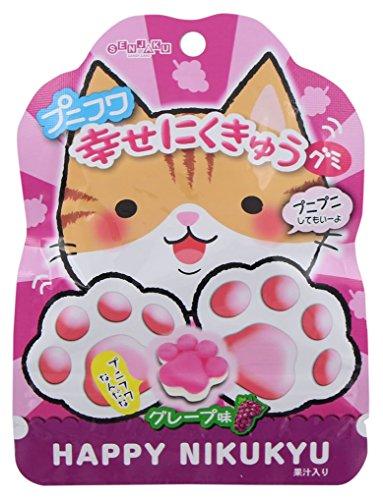 扇雀飴 プニフワ幸せにくきゅうグミグレープ味 30g×6袋