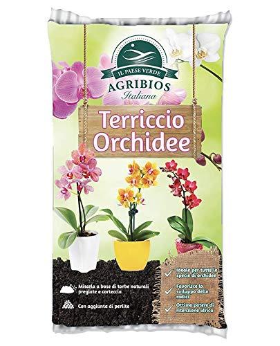AGRIBIOS TERRICCIO Orchidee 10 LT Miscela con Torba Naturale e Corteccia e Perlite