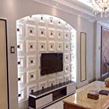 yazi Peel and Stick Adhesive Wall Panels Soft Leather Wallaper for Living Room Bedroom TV Sofa Background,White #3, 1 Piece
