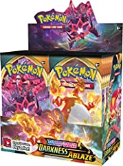 GIVE YOUR COLLECTION A BOOST: Includes 36 Sword & Shield Darkness Ablaze booster packs containing 10 cards each to advance your collection to a new level. YOUR BEST ODDS FOR RARE CARDS: This booster box is factory sealed to prevent packs from being w...