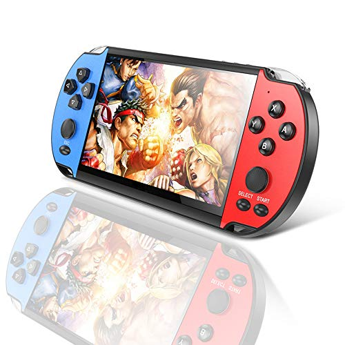 LKTINA Handheld Game Console, Dual Joystick 8GB 4.3'' LCD Screen, AV Out Retro Video Game Player Built in 3000 Free Games of SMS/CPS/GB/GBA/GBC/MD/SFC/NES emulators, Best Gift for Kids