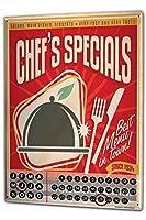 カレンダー Perpetual Calendar Fun Chef special Tin Metal Magnetic