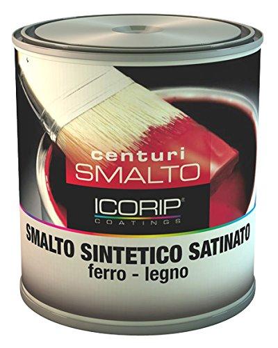 COLORIFICIO I.CO.RI.P. SMALTO CENTURI SATINATO NERO LT. 0, 750 6 PZ
