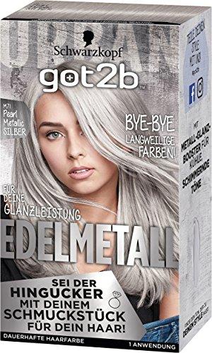 Schwarzkopf got2b Haarfarbe Edelmetall M71 pearl metallic silber, 1er Pack (1 x 142ml)