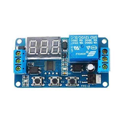 ZHITING Module de Relais de temporisation DC 12 V Affichage LED minuterie de Retard numérique commutateur de contrôle de Temps de Retard PLC 0.1Sec à 999Min réglable